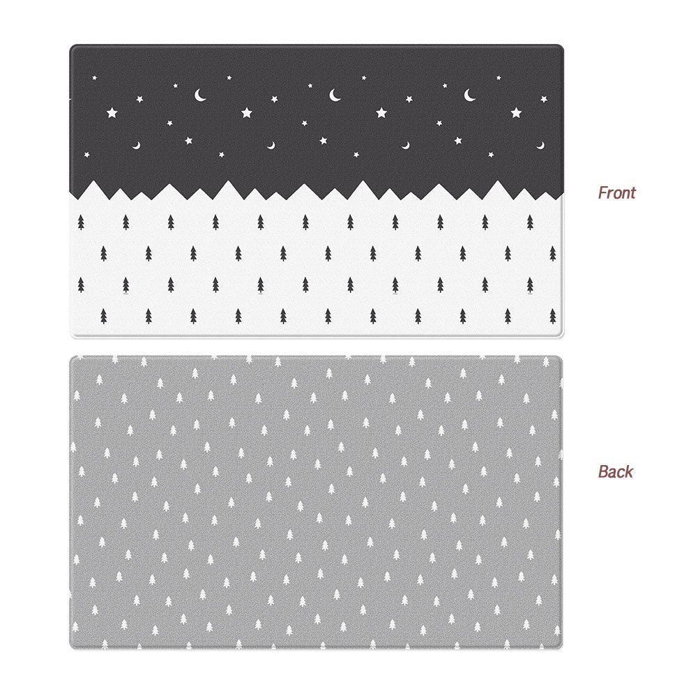 Parklon Play Mat Etoile Baby Playmat Baby Soft Mat Living Room Mat Rug Double Sided Design (Large (210x140x1.5CM))