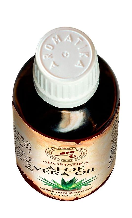 Aceite de Aloe Vera 50ml - Aloe Barbadensis - Brasil - 100% Puro y Natural - Botella de Cristal - Aceite Base Rico en Minerales y Vitaminas - Multifuncional ...