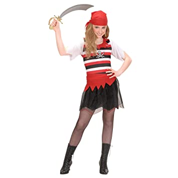 Kinderkostüm Piratengirl - Disfraz de pirata para niño (talla S ...