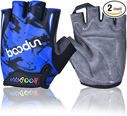 Kids Adjustable Bike Gloves Half Finger Anti-slip Breathable For Riding Cycling