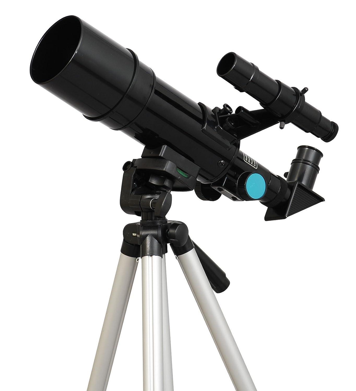 Black Twinstar 60mm Compact Kids Refractor Telescope by Twin Star