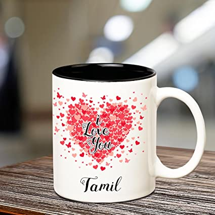 Buy Huppme I Love You Tamil Inner Black Romantic Coffee Name Mug