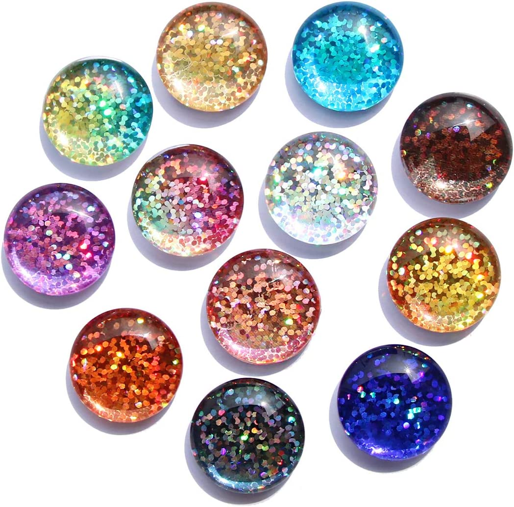 Cosylove 12pcs Automatic Gradient Color Refrigerator Magnets, Crystal Glass Fridge Magnet,Fridge Magnets For Home Office Cabinets, Whiteboards, Photos,Party Beautiful Decorative Magnets Gift