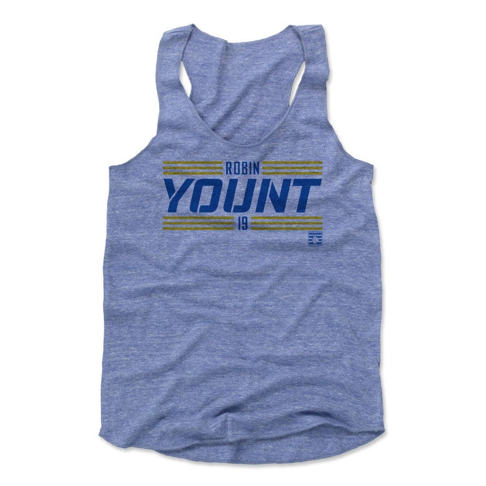 Robin Yount Striped Font B Baseball Hall of Fame Women's Tank Top
