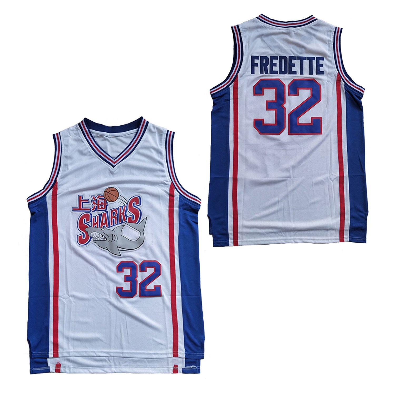 #32 Jimmer Fredette Shanghai Sharks Basketball Jersey Men White