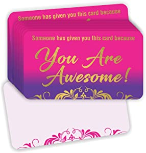 You are Awesome Cards - (Pack of 100) Gold Foil Stamping 3.5