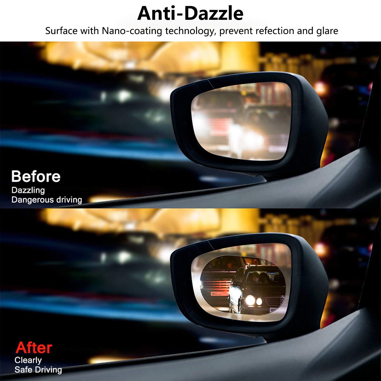 2PCS Pellicola antiriflesso per auto specchietto retrovisore Mesllin PET Nano Rivestimento Pellicola protettiva impermeabile Anti-riflesso Anti Nebbia Anti-graffio ovale 150 * 100mm