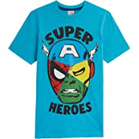 Marvel Camiseta Niño, Camisetas Niño Manga Corta de Los Vengadores Iron Man Capitan America Hulk y Spider Man, Ropa Niño…