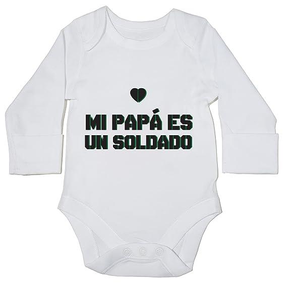 HippoWarehouse Mi Papá es un Soldado body manga larga bodys pijama niños niñas unisex: Amazon.es: Ropa y accesorios