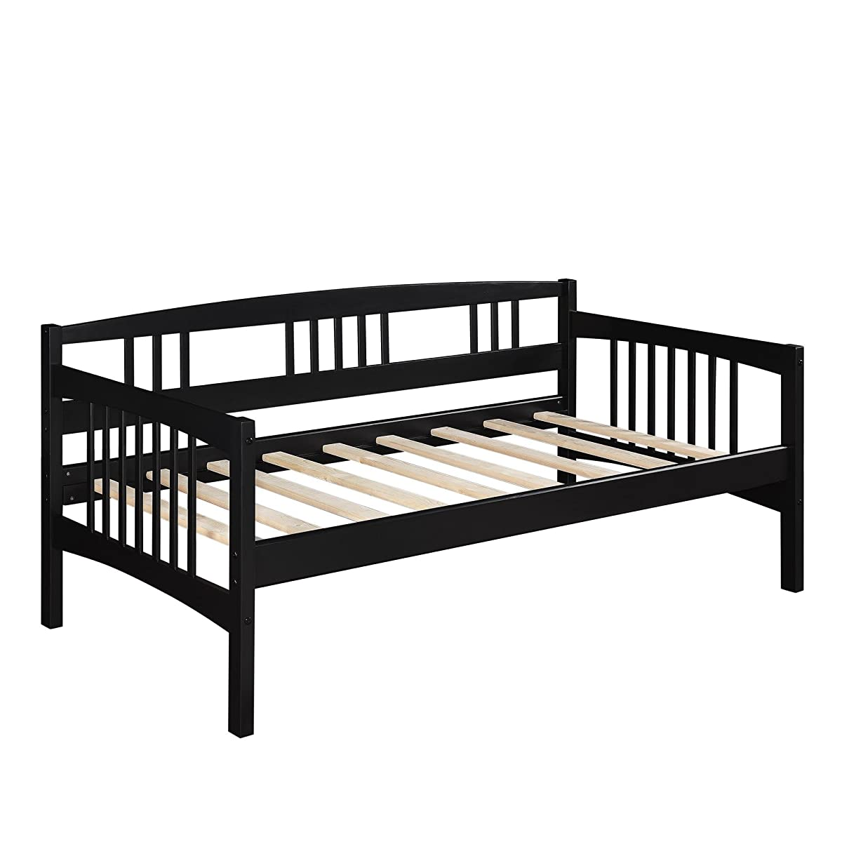 Dorel Living Kayden Daybed Solid Wood, Twin, Black
