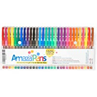 Pens for Adult Colouring Books - Best for Planners, Journals, Scrapbooking for Adults & Kids alike - 30 Rare, Unique, Bold MATT Coloured Pens that POP - Archival Quality. 150% More Ink - Create 2.5X's More Art