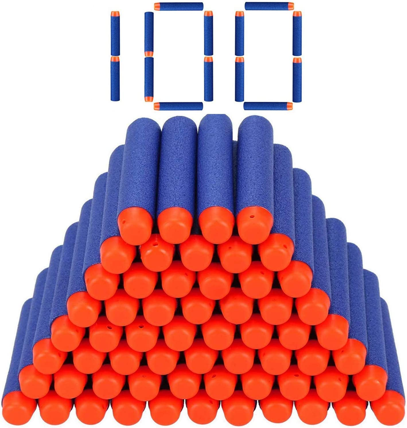 StillCool Nerf Dardos, 100 Pezas 7,2cm Espuma Suave Dardos Recarga Bala Blasters para Nerf N-Strike Elite Serie Niños Juguete Pistola Bullet Munición ( Azul Oscuro)