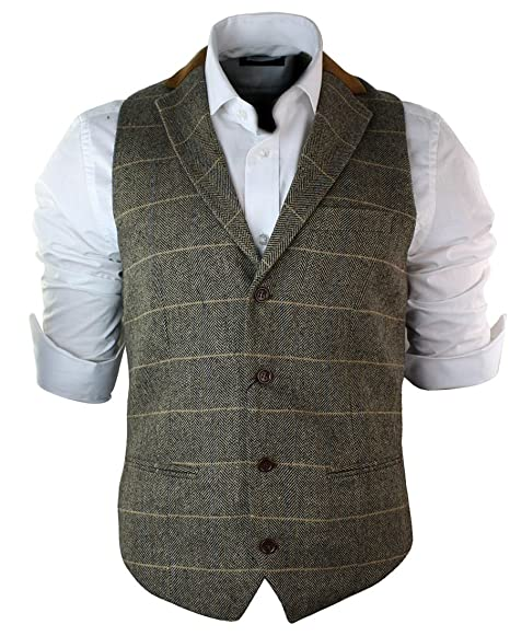 Men's Blazer and Suit Vest / Vintage Brown Waistcoat and Jacket / Size 42 Large