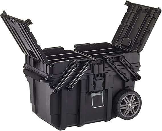 Keter 233743 Job Box - Carro Horizontal, Negro, 62.6 x 35.3 x 39 ...