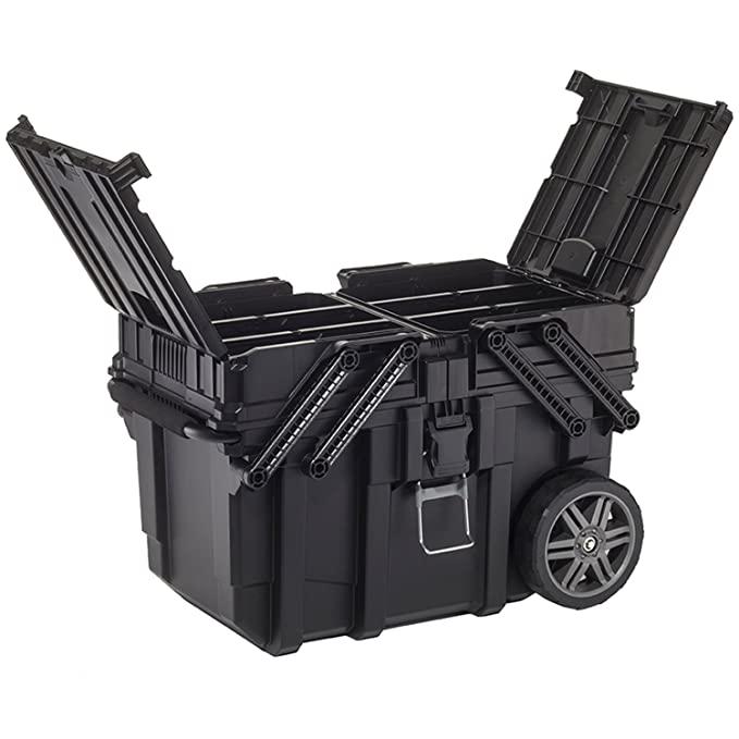 Curver 233743 Job Box - Carro Horizontal, Negro, 62.6 x 35.3 x 39 cm: Amazon.es: Bricolaje y herramientas