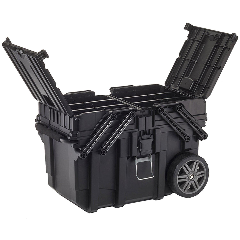 Curver 233743 Job Box - Carro Horizontal, Negro, 62.6 x 35.3 x 39 cm