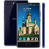 DOOGEE Mix Smartphone 4G Android 7.0 (Helio P25 Octa Core 2.5GHz , 5.5'' IPS HD Schermo, 4GB RAM 64GB ROM, 5MP+8MP+13MP Camera, Fingerprint ID, Dual SIM, 3380mAh Batteria, Carica rapida, Smart Wake, Gesti intelligenti, Modalità di risparmio energetico) Blu