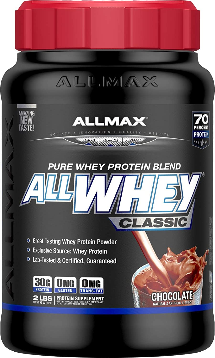 ALLMAX Nutrition AllWhey Classic 100 Whey Protein, Chocolate, 2 lbs
