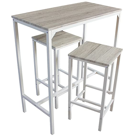 Mesa y 2 taburetes muebles cocina Bar Mod. Brasil: Amazon.es: Hogar