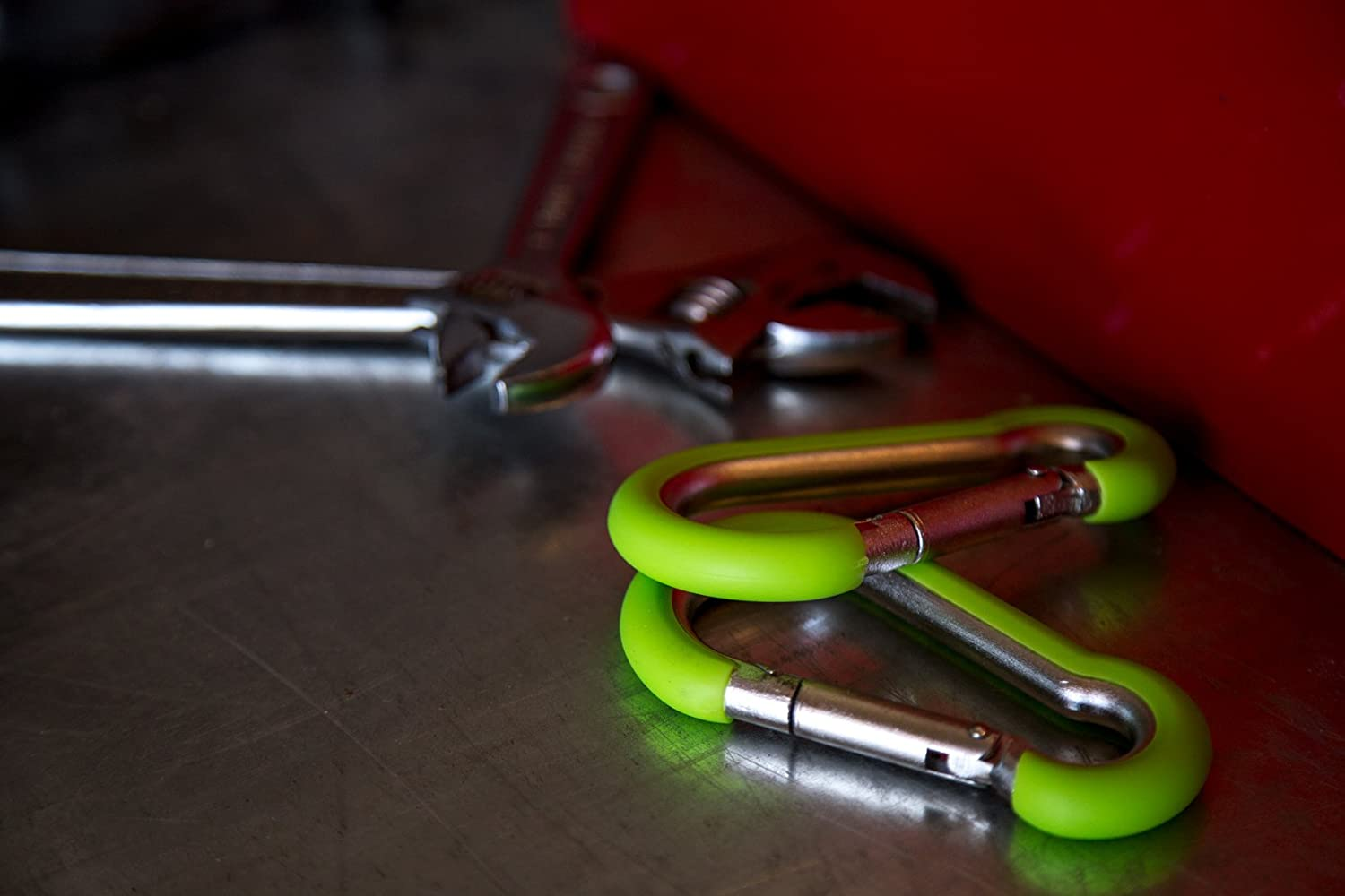 Hook It Clips Rubber Coated Stainless Steel Carabiner