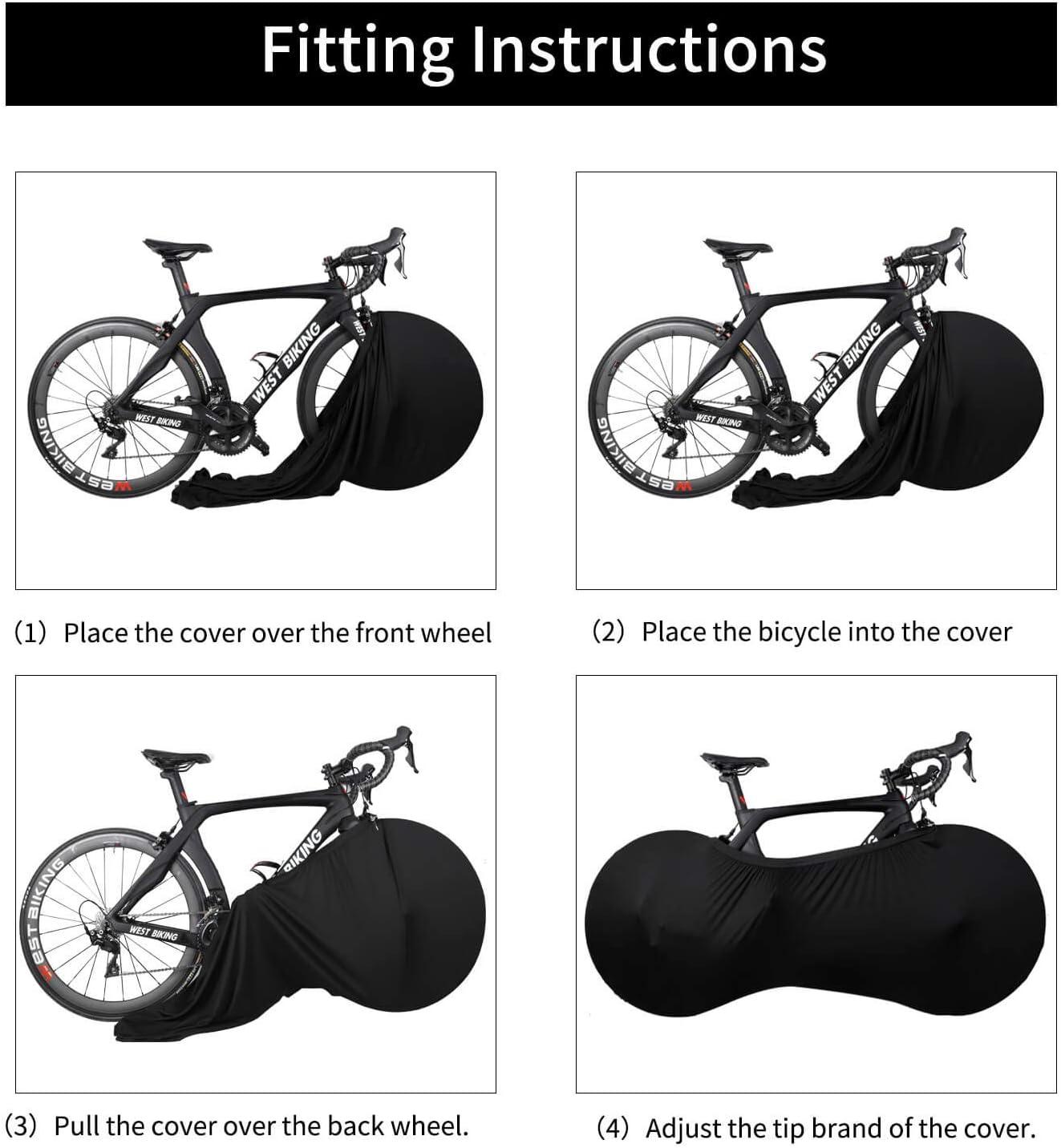 West Biking Funda para Rueda de Bicicleta, Bolsa de Almacenamiento para Interior de Bicicleta Antipolvo, a Prueba de arañazos, Lavable, Alta Elasticidad, Paquete de neumáticos de Carretera MTB: Amazon.es: Deportes y aire