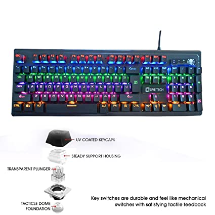 Live Tech KB 08 Phantom Mechanical Keyboard with Audible Sound (Black)