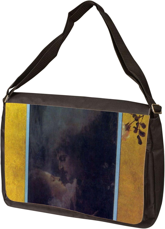 Love by Gustav Klimt Laptop Bag Messenger Bag Shoulder Bag