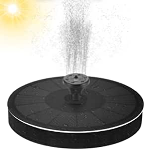 Bird Bath Solar Fountain, Free-Standing Floating Solar Powered Water Bubbler Pump kit for Birdbath, Garden