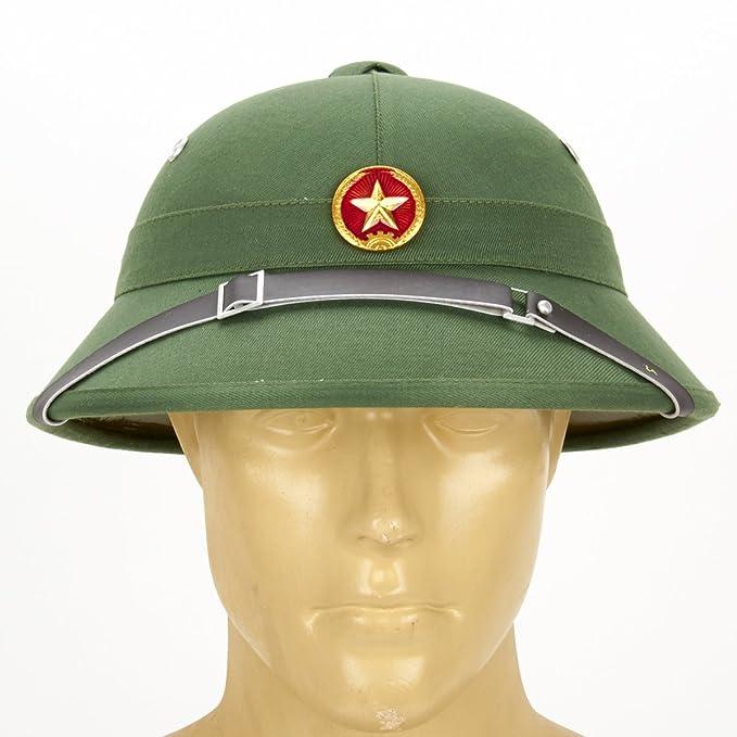 Ejército del Norte de Vietnam Vietcong Pith Casco con emblema de estrella roja