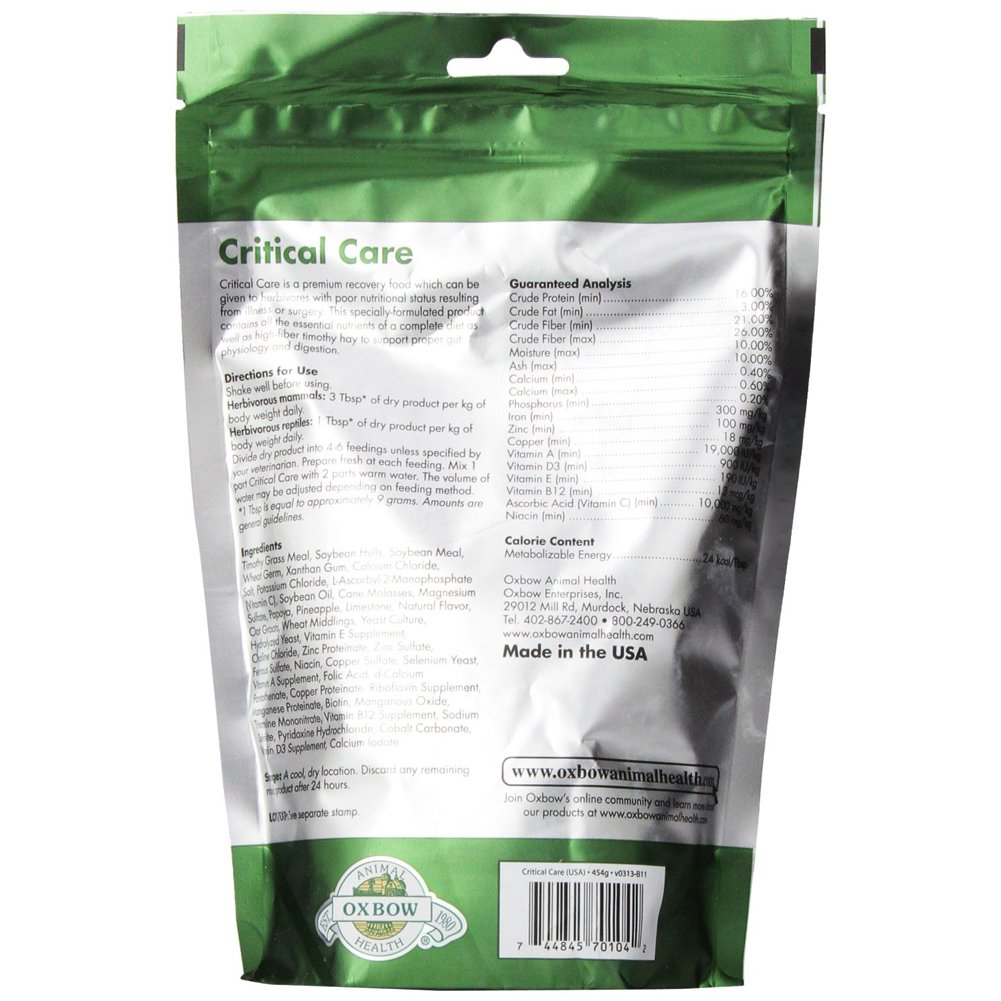 Oxbow Critical Care Pet Supplement, 1-Pound [2-Pack] by Oxbow (Image #2)