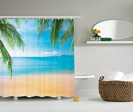 Image Unavailable Not Available For Color Ambesonne Beach Themed Decor Shower Curtain