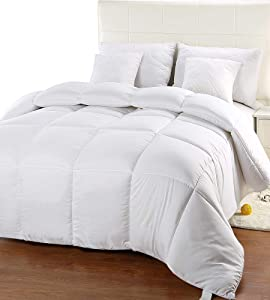 Utopia Bedding Comforter Duvet Insert - Quilted Comforter with Corner Tabs - Hypoallergenic, Box Stitched Down Alternative Comforter (King/California King, White)