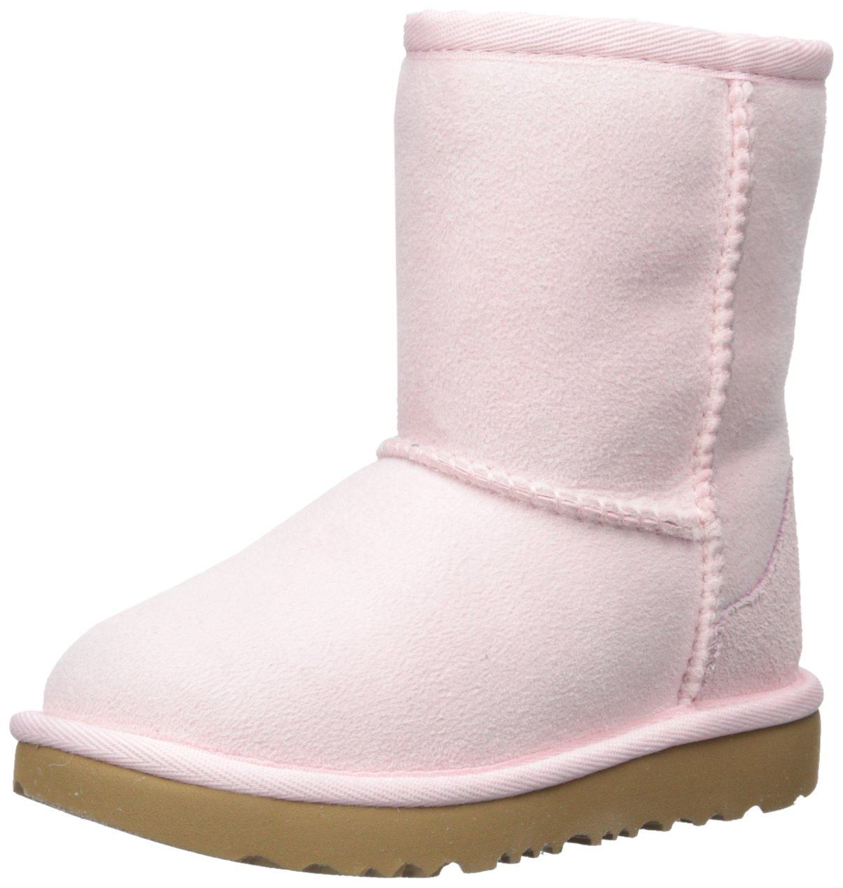 UGG Girls T Classic II Fashion Boot, Seashell Pink, 8 M US Toddler