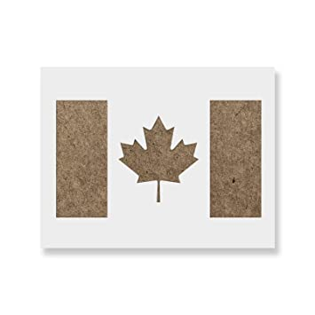 Canadian Flag Stencil Template For Walls And Crafts