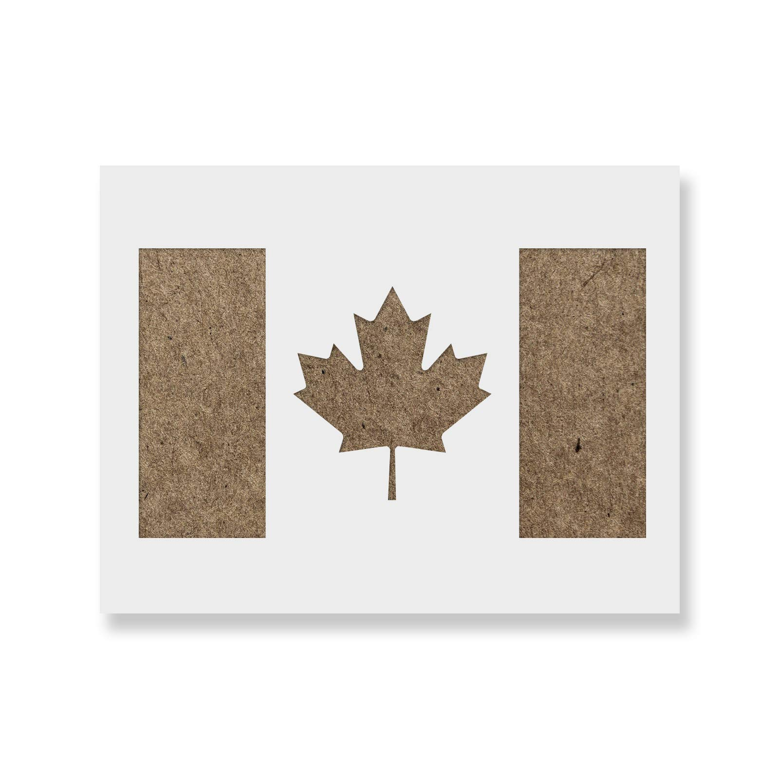 Canadian Flag Stencil Template - Reusable Stencil with Multiple Sizes Available