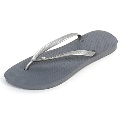 ca61c7fe5 Havaianas Women s Slim Swarovski Crystal Glamour Flip Flop Steel  Grey-Grey-6 7  Amazon.co.uk  Shoes   Bags