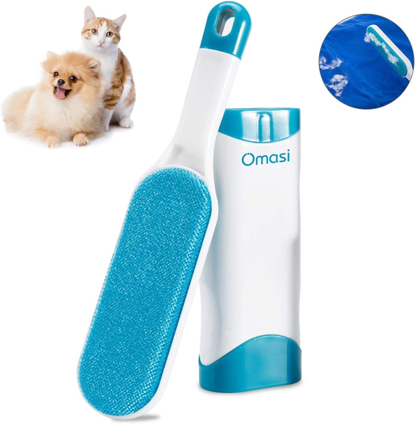 Omasi Quitapelos para Mascotas, Removedor de Pelo para Mascotas Cepillo de Limpieza Removedor de Pelaje para Perro y Gato, Mágico Depilación Eliminador de Pelo para Animales- Azul