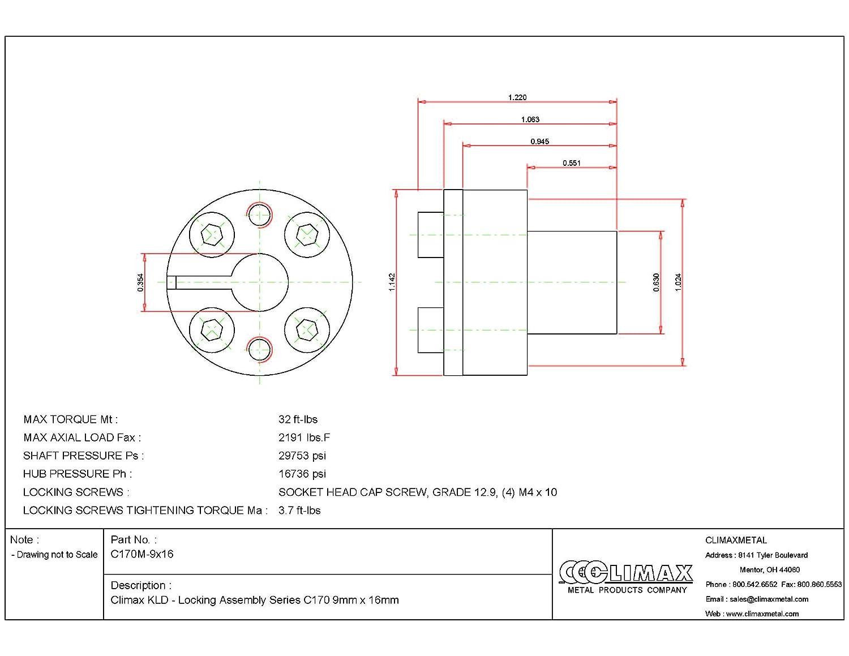 Aluminum A2017 NBK MJC-65-RD-20-20 Jaw Flexible Coupling Bore Diameters 20 mm and 20 mm Set Screw Type