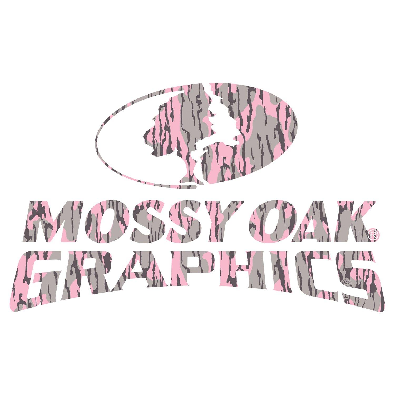 Mossy Oak Graphics 13007-BLP-S Bottomland Pink 7 x 4.5 Camo Logo Decal