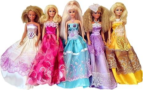 Amazon.es: Elviros 100% Hecho a Mano Barbie Muñeca Vestido Dress ...