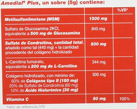 Amazon.com: AMEDIAL Plus 5G 20 Sobres by Sigma Tau: Health & Personal Care