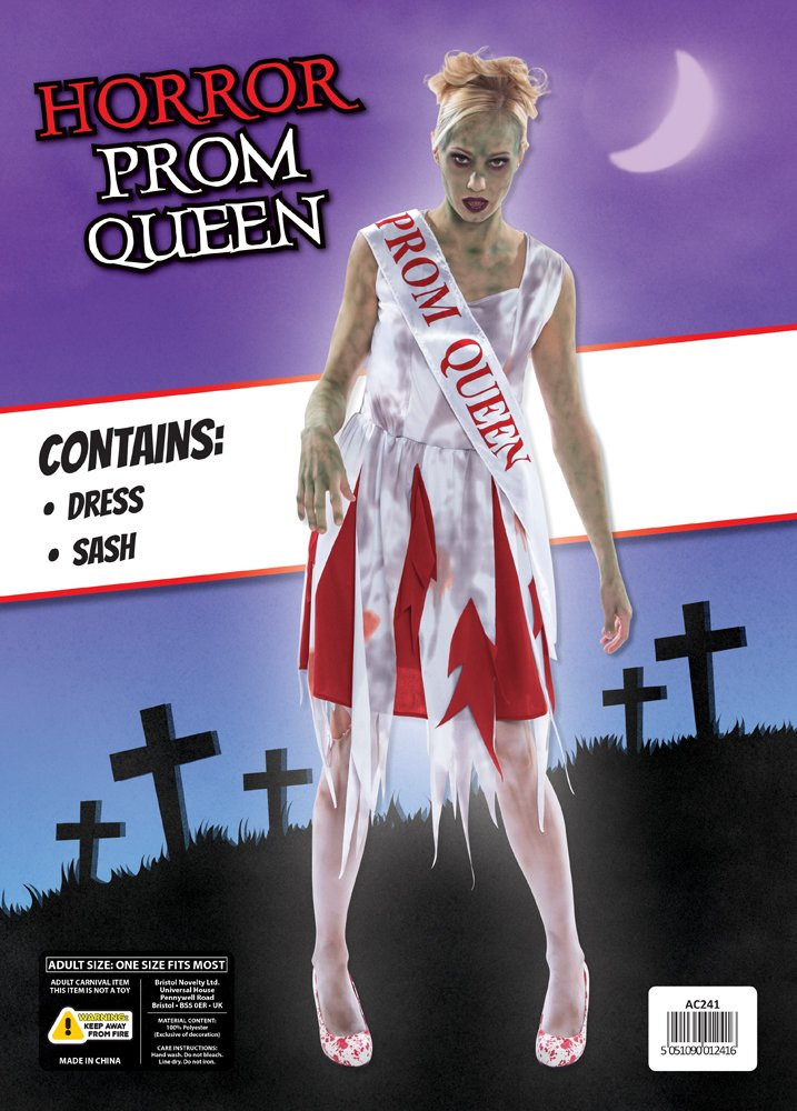 Bristol Novelty AC241 Horror Prom Queen Costume (UK 10 -14): Amazon.co.uk: Toys & Games
