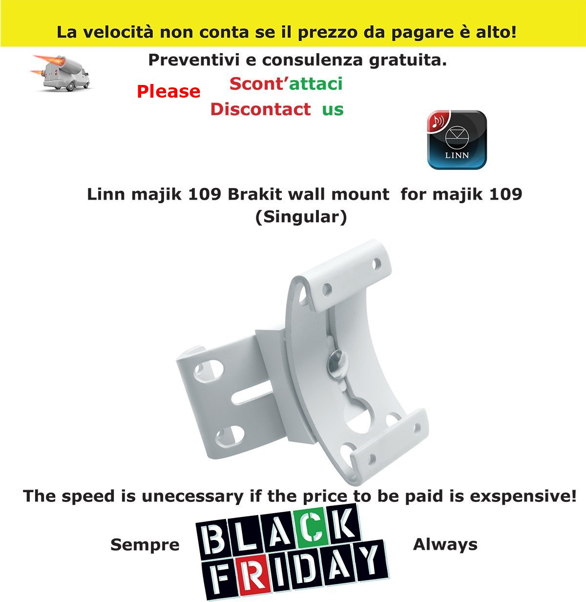 Linn Majik 109 brakit Wall Mount for Majik 109 negocio intermarket ...