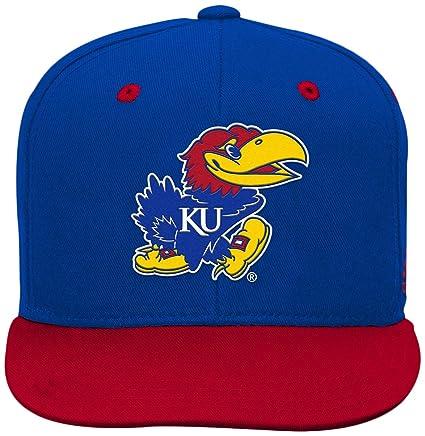 on sale 38a99 317c8 Outerstuff NCAA Kansas Jayhawks Children Boys 2-Tone Flat Brim Snapback Hat,  1-