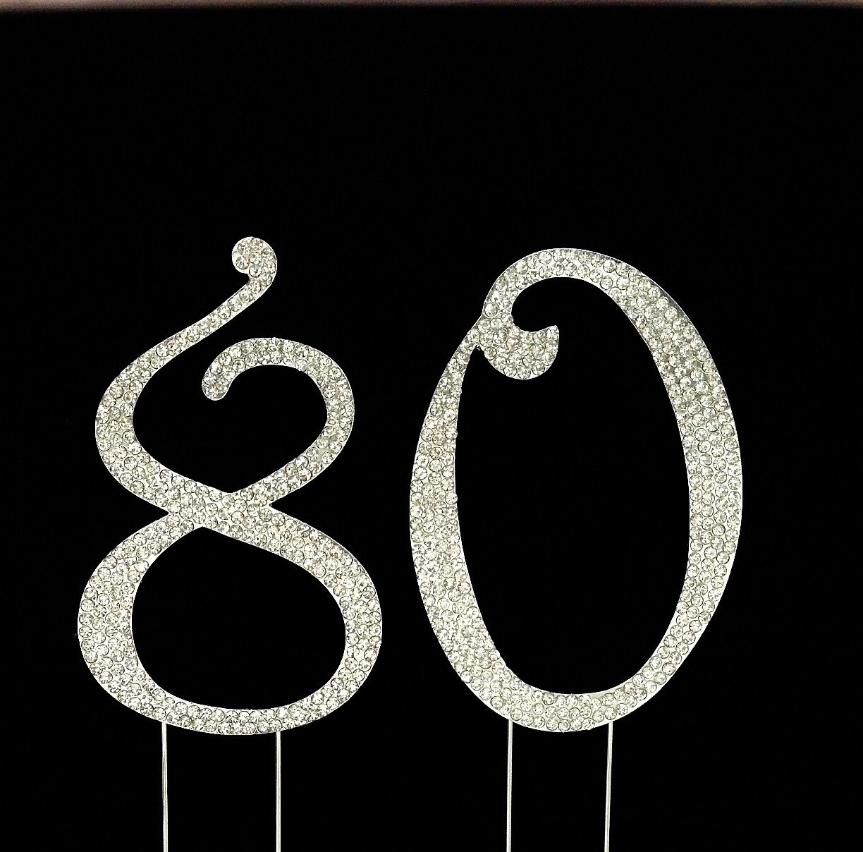 Amazoncom Number 80 for 80th Birthday or Anniversary Cake Topper