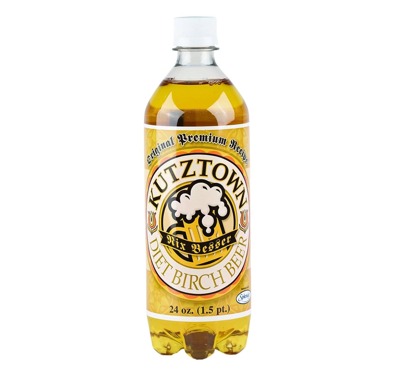 Kutztown PA Dutch Diet Birch Beer, Famous Amish Drink, 24 Oz. Bottles (Pack of 8)