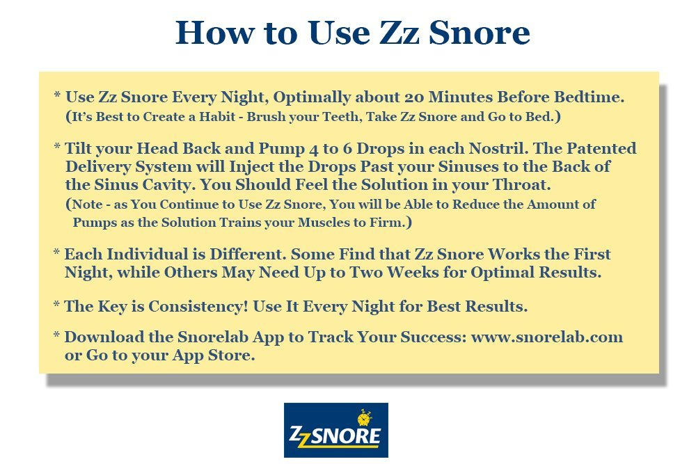 Zz Snore - Stop Snoring! Nasal Spray. No Uncomfortable Mouthpieces or Straps Needed! Dr. Zweiback says, ''I have found that ZzSnore is the best stop snoring solution for myself and my patients''