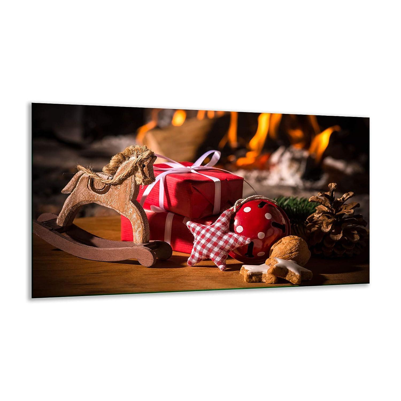 Herdabdeckplatte Ceranfeld Weihnachten Bunt 1 Teilig 90x52 Kochplatten Induktion