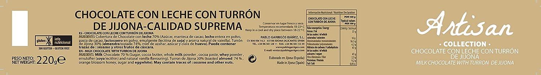 Amazon.com : Pablo Garrigós Ibáñez Artisan Collection Chocolate Milk with Turron de Jijona 7.76 oz (220 grams) (Pack of 1) : Grocery & Gourmet Food