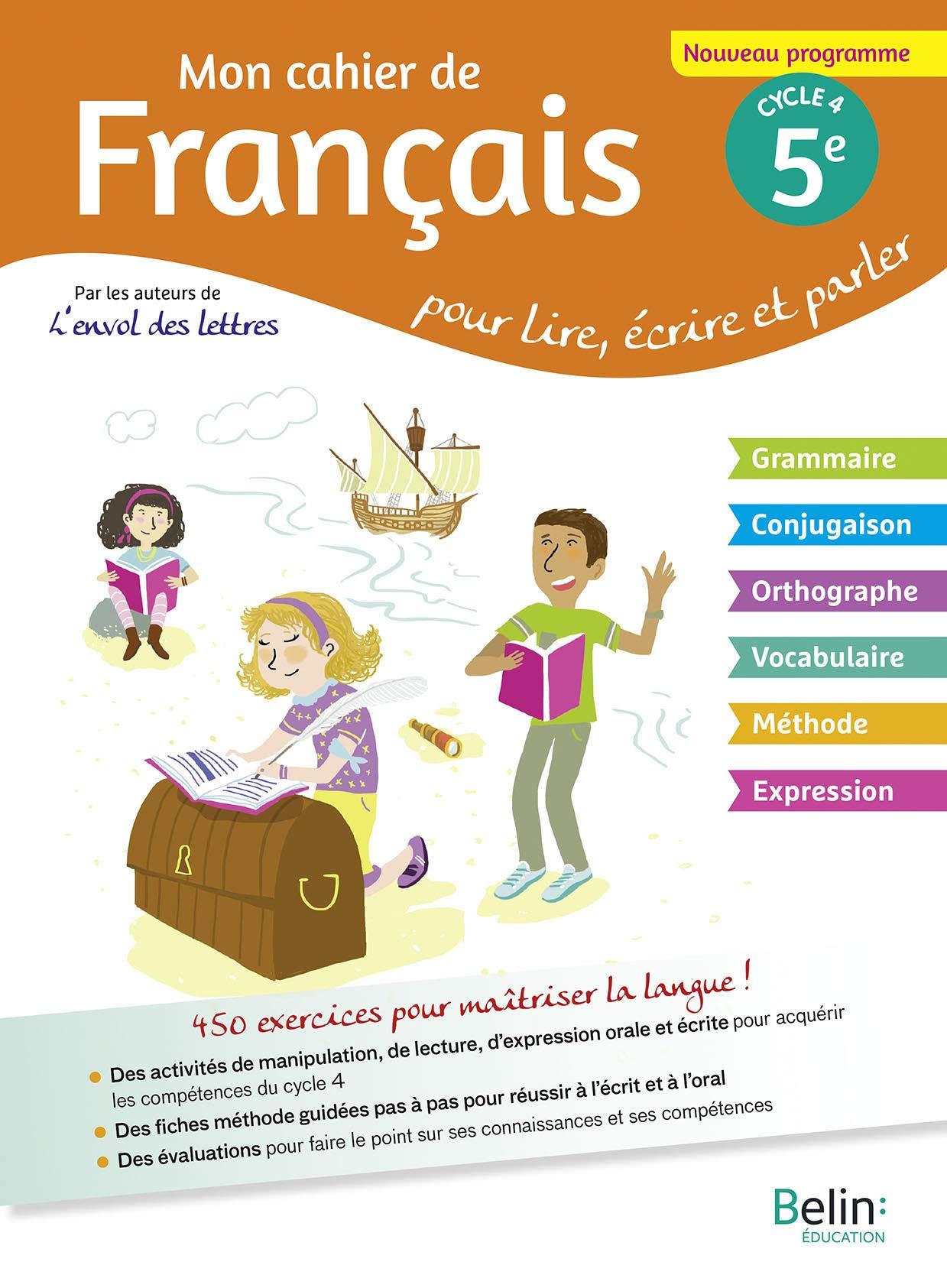 Amazon Fr Mon Cahier De Francais 5eme Matthieu Genet